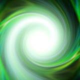 绿色空转的漩涡 库存例证
