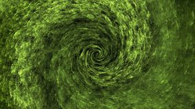 绿色空间漩涡抽象背景 向量例证