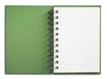 绿色笔记本垂直 免版税库存照片