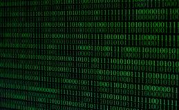 绿色第0和1数字式 免版税库存图片