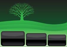 绿色简单的模板 库存例证