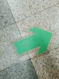 绿色箭头 图库摄影