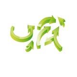 绿色箭头3d 库存图片