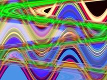 绿色紫色蓝色流体线、几何背景、图表、抽象背景和纹理 向量例证
