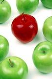 绿色红色垂直 免版税图库摄影