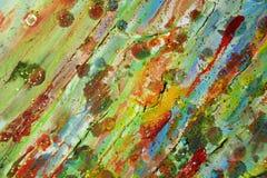 绿色红色橙黄颜色,蜡状的抽象背景 库存图片