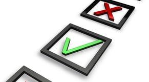 绿色红色滴答声 免版税图库摄影