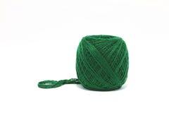绿色纱线 免版税库存图片