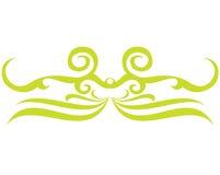 绿色纹身花刺 免版税图库摄影