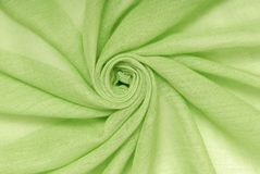 绿色纺织品 库存照片