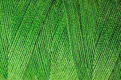 绿色线程数创伤宏观视图  免版税库存照片