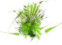 绿色绘画 向量例证