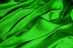 绿色缎通知 免版税库存图片