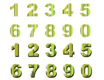 绿色编号数据条 图库摄影