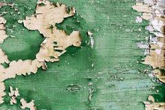 绿色老油漆削皮板条 库存图片