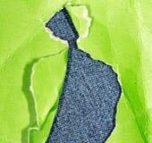 绿色老纸张 免版税库存图片