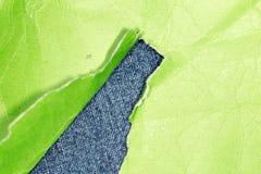 绿色老纸张 免版税库存照片