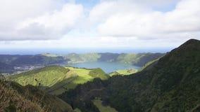 绿色能承受的São米格尔海岛,亚速尔群岛 免版税库存照片