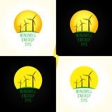 绿色能源系统略写法 库存图片