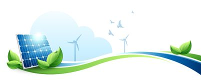 绿色能量概念 皇族释放例证