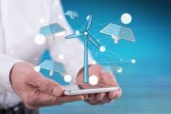 绿色能量的概念 免版税库存图片