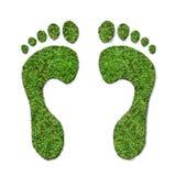 绿色脚印 免版税库存图片