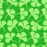 绿色花卉无缝的样式 向量例证