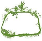绿色花卉边界 免版税库存图片