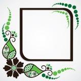 绿色花叶子框架背景 库存图片