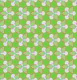 绿色花和常春藤在绿色背景圣诞节无缝的样式 免版税库存图片