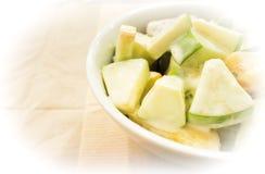 绿色苹果沙拉 免版税库存照片