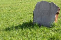 绿色草坪墓碑 图库摄影