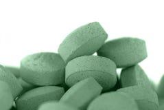 绿色药片 免版税库存图片
