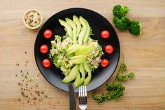 绿色菜沙拉  库存图片