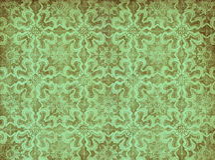 绿色葡萄酒墙纸 免版税库存照片