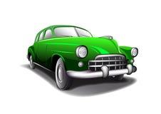 绿色葡萄酒汽车 免版税库存图片