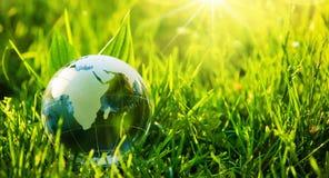 绿色行星-环境的概念 免版税库存照片