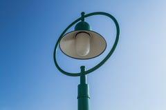 绿色街灯 库存照片