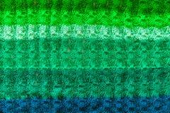 绿色被编织的织品纹理 免版税图库摄影
