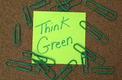 绿色认为 免版税库存照片
