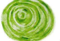 绿色设计的水彩背景,绘由在白色隔绝的刷子 被隔绝的抽象水彩背景  库存例证