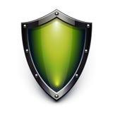 绿色证券盾 免版税库存照片