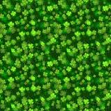 绿色贺卡为圣Patricks天,字法手凹道 库存照片