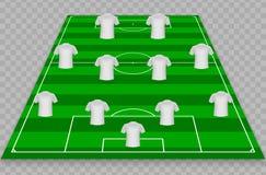 绿色足球的例证归档与白色T恤 皇族释放例证