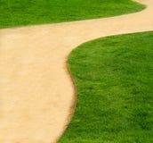 绿色路径 图库摄影