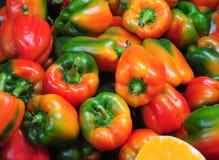 绿色辣椒粉,黄色,红色,新鲜和可口 库存照片