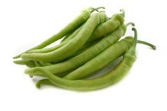 绿色辣椒粉 免版税图库摄影