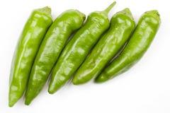 绿色辣椒 库存图片