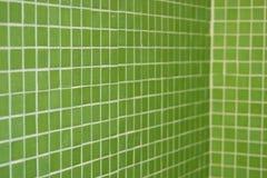 绿色透视图瓦片 免版税库存照片