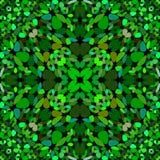 绿色重复的花卉华丽样式墙纸-几何图形设计 皇族释放例证